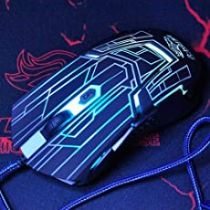 Gadgets WRAP Black Tron Light Effect Gaming Mouse Max 3200DPI with LED Support