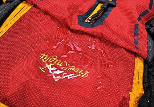 45L Wasserdichtes Nylon Professionelle Outdoor-Sport Klettern Wandern Klettern Taschen Bergsteigen Rucksack Reisen Orange