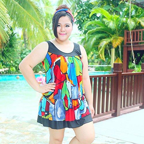 XL-übergewichtige Menschen kleiden einteilige Bikini-Badeanzug 4XL 05