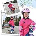 Giplar Protektoren-Set Schoner Set Kinder mit Helm (Helm Knie Ellenbogen Handgelenk) für Inlineskates, Fahrrad, Skateboard, Outdoor-Aktivitäten