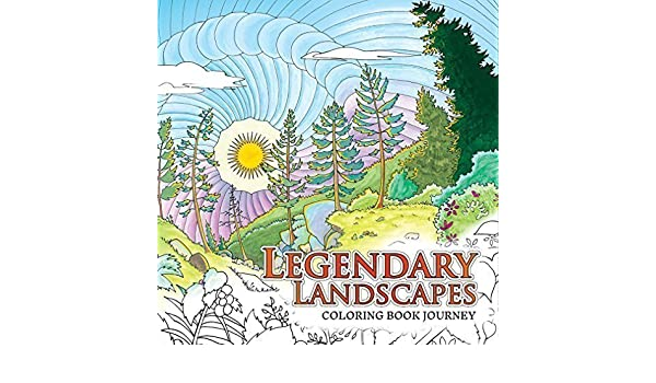Amazonin Buy Legendary Landscapes Coloring Book Journey 1 Online At Low Prices In India