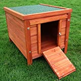 Solid Pine Small Pet Hutch - Made From Weather-Resistent, Varnished Pine Wood With A Removable Base Tray