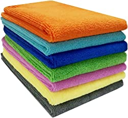 Pellcaso Wipewash Car Cleaning Cloth Microfiber Multi Purpose Duster for Car, Home & Kitchen (40x40 cms, Mix Colours) - Pack Of 4 Pcs