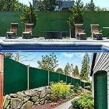 Probache - Brise Vue renforcé 1,2 x 10 m Vert 220 GR/m² Luxe Pro