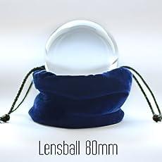 Lensball Pro 80mm - 100% Quartz Premium K9 Crystal Ball for DSLR & Mobile Photography and Contact Juggling Ball Lens Ball Glass Ball
