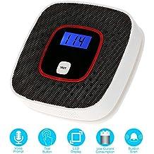 KKmoon Detector de Monóxido de Carbono CO LCD Alarma Sensor Envenenamiento Probador de Gas Humo Voz Humana para Sistema de Alarma