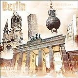 Pro-Art g5109a - Lienzo en impresión giclée (30 x 30 cm), diseño de la ciudad de Berlín, multicolor, 50 x 50 cm
