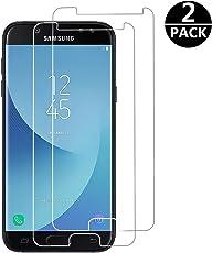 FashionAA Panzerglas für Samsung Galaxy J5 2017, [2 Stück] Schutzfolie für J5 2017-0.25mm, 9H Härte, Anti-Kratzen, Anti-Öl, Anti-Bläschen, Panzerglasfolie Displayschutzfolie für J5 2017