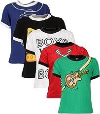 Goodway Senior Boy Attitude 5 Pack Printed T Shirts