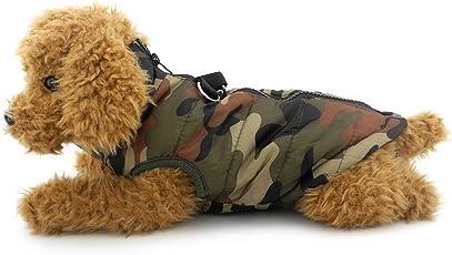 selmai Daunen Weste für kleine Hunde Gepolsterter Mantel Jacke Mit Geschirr Hoop D Ring Katze Welpen Chihuahua Kleidung Bekleidung