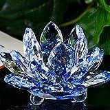 Mamum Kristall Glas Lotus Blume, Lotus Kristall Glas Figur, Briefbeschwerer Feng Shui Decor Kollektion, a, Einheitsgröße