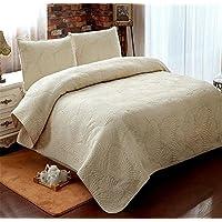 Foglia di palma beddingleer Patchwork Cotone Copriletto Trapuntato Set per letto queen/king/doppio, 230* 250