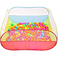 Product Mart Big Size Square My Ball Pool Game with 50 Full Balls Kids Play Tent House for Boys & Girls -Multi Color (My…