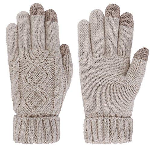 simplicity-guantes-para-hombre-marron-latte-talla-unica