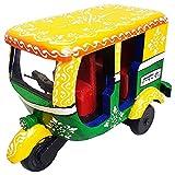 Decorativo de madera relieve ilustraciones autorickshaw TUK TUK vehículo de pasajeros