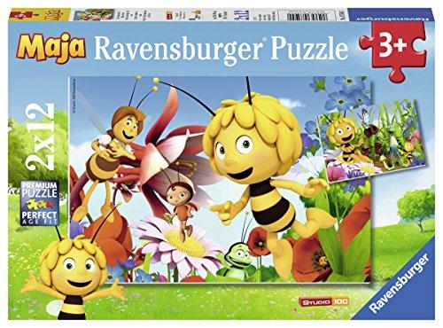 Ravensburger-07594-Biene-Maja-auf-der-Blumenwiese