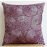 Púrpura Fundas De Cojines, Espiral Púrpura De Las