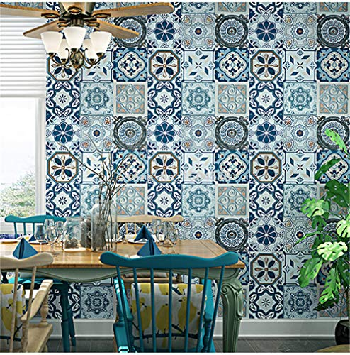 Hintergrundbild Wallpaper 3D Geprägte Nachahmung Keramische Fliesen Tapete Südostasiatischen Stil Wohnzimmer B -
