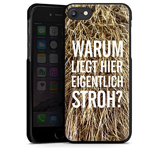 Apple iPhone X Silikon Hülle Case Schutzhülle Stroh Lustig Humor Hard Case schwarz