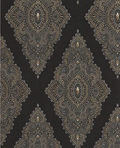 Jewel Taupe & Gold Collection JmD Fabulous 31-166-003 Non-Woven Fabric Wallpaper