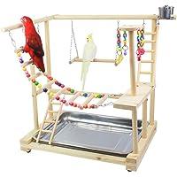 KAIXIN Nid De Perchoir D'oiseau Jouant La Plate-Forme Gymnase/Aire De Jeux Interactive De Perroquet, Plate-Forme De…