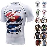 Khroom T-Shirt de Compression de Super-héros pour Homme | Vêtement Sportif à Séchage Rapide pour Fitness, Gym, Course, Muscul