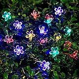IDEAPRO Flower Solar String Lights Outdoor Fairy Light 21ft 50 LED Multi Color Blossom Lighting for Christmas, Garden Patio Indoor Party, Bedroom, Xmas, Yard, Proch Decoration
