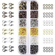 6 Colores Gancho Langosta y 6 Colores Anillo Abierto para Hacer la Joyería