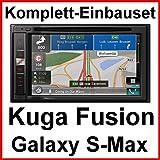 Komplett-Set Ford Fusion Galaxy S-Max Pioneer AVIC-F980BT Navigation DVD USB MP3