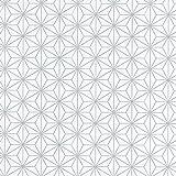 Equipo DRT Encadenados - Papel pintado geométrico estrellas, color plata, 1 rollo