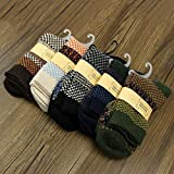 5 pairs warm winter thick wool mixture cashmere mens casual socks