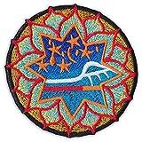 Magic Mandala Aufnäher Aufbügler Patch Goa Trance Yoga Yogi Buddha Hindu Om (Klein)
