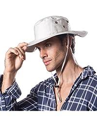 Hongtellor Sombrero de Verano para Hombre y Mujer de ala Ancha Plegable,Senderismo Deporte al Aire Libre Ocio Gorra…