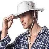 Hongtellor Sonnenhut Outdoor Buschhüte mit Kinnband Outdoor Bucket Hat-Unisex