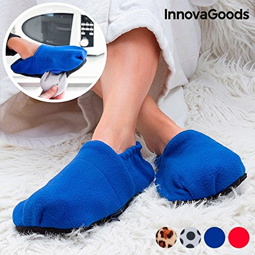 InnovaGoods IG114444 - Zapatillas casa calentables