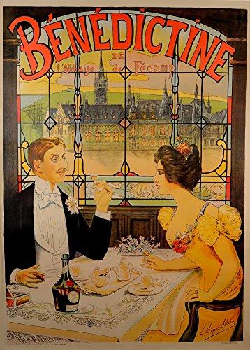 Vintage Beers, Weine und Spirituosen Benediktiner de l 'abbaye de Fecamp, Paris, Frankreich, 1910. 250gsm, Hochglanz, A3, vervielfältigtes Poster