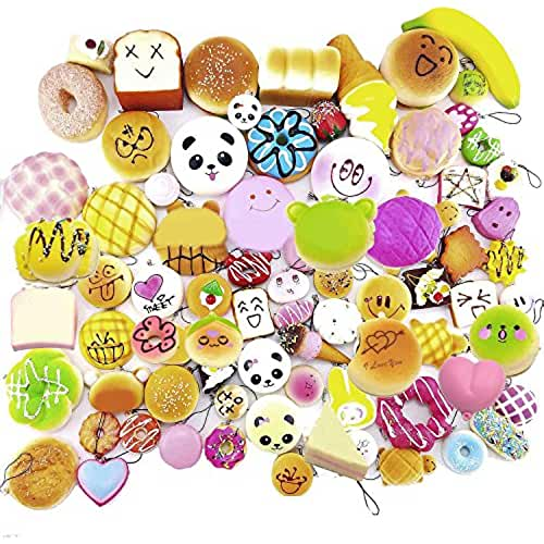 mini kawaii miniaturas kawaii BEETEST 30 piezas Moda Kawaii Mini Squishy blanda suave simulado Panda pan Pastel bollos colgantes llaveros teléfono cadena alimentaria correas accesorios adornos Estilo al azar