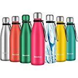 Newdora Vacuum Insulated Water Bottle & Vacuum Flask - 500ml,12 Hours Hot/24 Hours Cold,Double Walled 18/8 Stainless Steel fo
