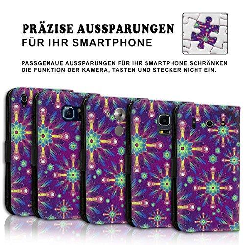 Wallet Book Style Flip Handy Tasche Case Schutz Hülle Schale Motiv Etui für Apple iPhone 6 / 6S - Variante UMV12 Design12 Design 8