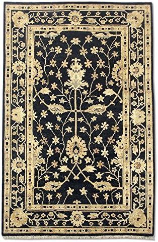 Pak Persian Rugs Tappeto Annodato A Mano x oushak, Nero, Lana, 122 x Mano 187 cm d85ec9