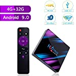 Nano Classic H96 MAX Android 9.0 TV Box 4G 32G Dual Band WIFI 2.4G&5G 4K Bluetooth 4.0 Set Top Box USB 3.0 Support 3D Movie