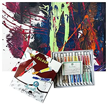Daveliou Oil Paints Set – 12ml X 24 Colour Paint Tubes – Non Toxic Painting Kit For Beginners Students & Artists 5