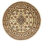 Rund Classic Orient Perser Style Traditionelles Blumenmuster Rundschreiben Teppich/Matte, beige–133x 133cm