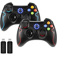 REDSTORM PC Controller, 2-Pack, USB Controller, Windows Gamepad with Dual Vibration, Turbo Function, for PS3 / Android…