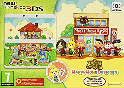New Nintendo 3DS - Consola, Color Blanco + Animal Crossing Happy Home Designer (preinstalado)