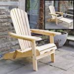 Adirondack Garden Lounger Chair with...