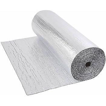 Biard - Isolant Thermique et Acoustique - Feuille Aluminium à Bulles - Double Épaisseur - Isolation Sol Toit Mur - Rouleau 30m²