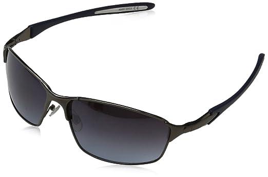 Générique Sunglasses Max, Montures de Lunettes Mixte Adulte, Gris (Matt Gunmetal/Smoke Blue), 60