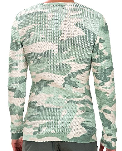 Red Bridge Herren Rib Camouflage Pullover Camouflage Camouflage