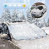 Frontscheibenabdeckung für Winter, Windschutzscheibe Abdeckung Magnet Faltbare Abnehmbare Auto Abdeckung für die Scheibenabdeckung gegen Schnee, EIS, Frost, Staub und Sonne(Universelle Dimension)